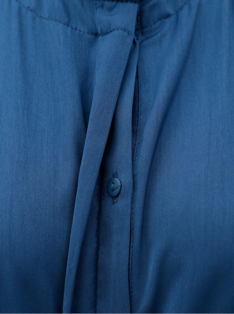 Petrolejové košilové šaty se stojáčkem VERO MODA Elizabeth