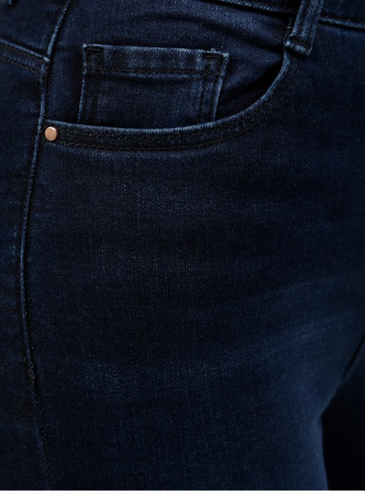 Blugi skinny albastru inchis din denim cu talie inalta Dorothy Perkins Shape & Lift