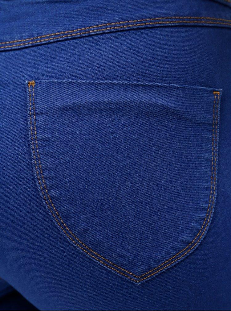 Modré skrátené jeggings Dorothy Perkins Eden