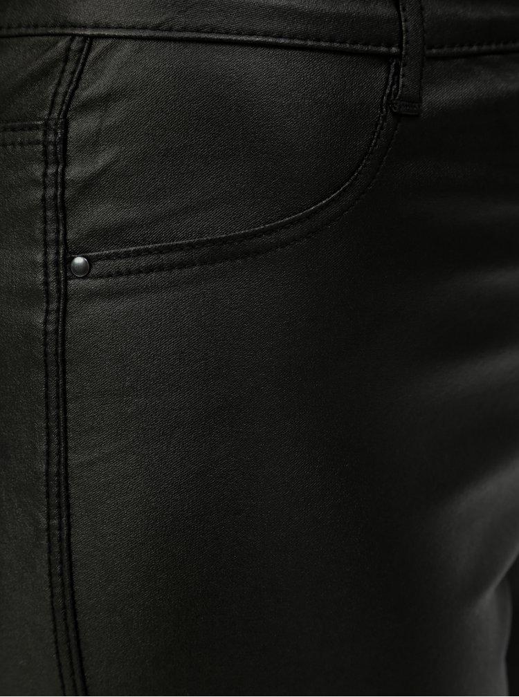 Černé lesklé skinny džíny Dorothy Perkins Frankie
