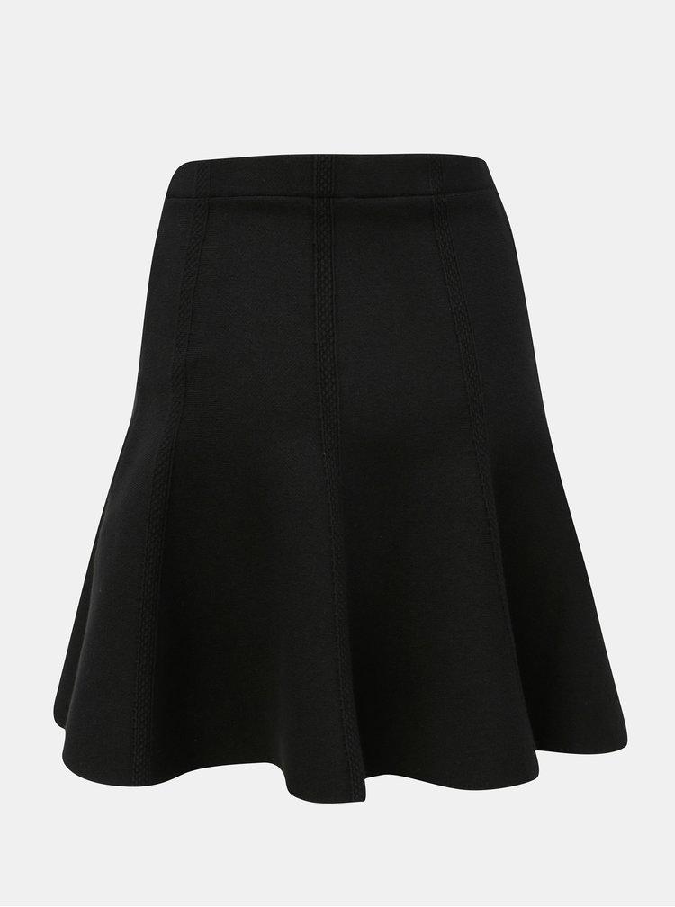 Černá strukturovaná sukně VILA Perfecta