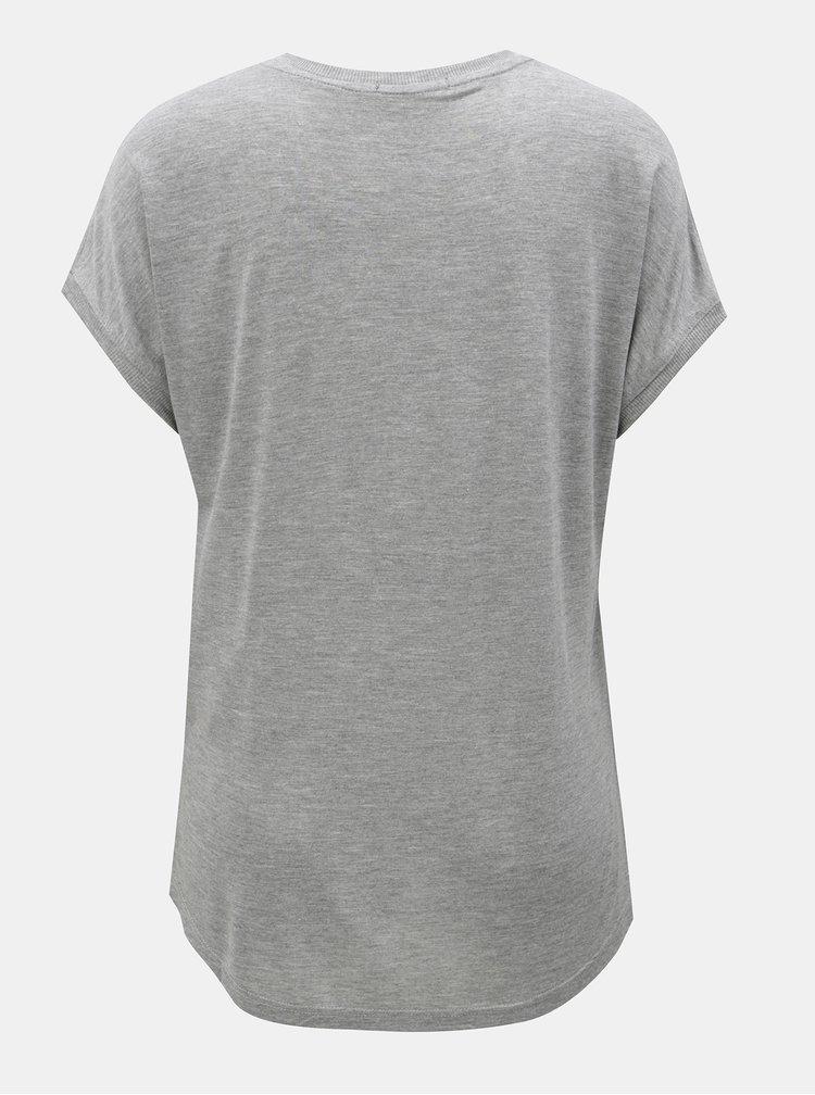 Oranžovo-sivé vzorované tričko Desigual