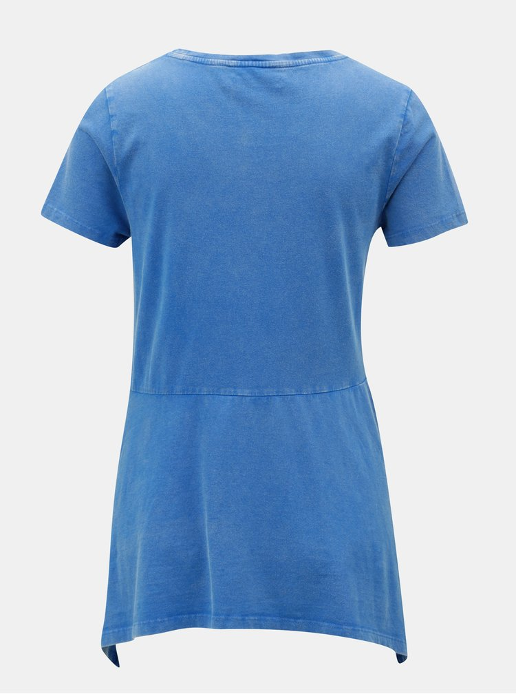 Modré tričko s cípmi a potlačou Desigual