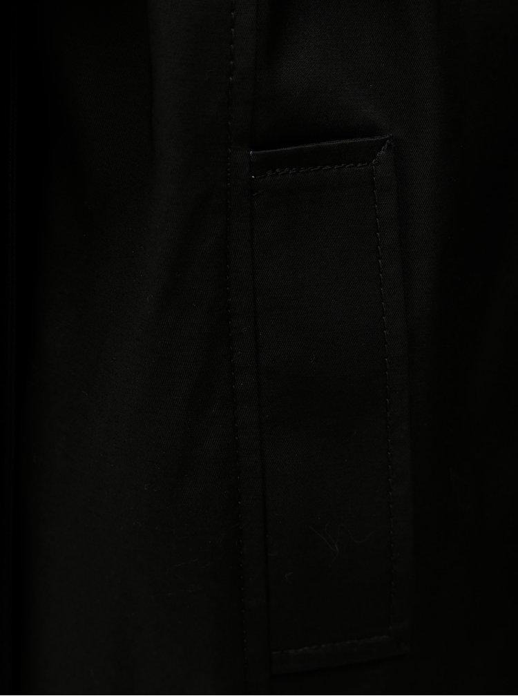 Trenci negru cu slit Dorothy Perkins