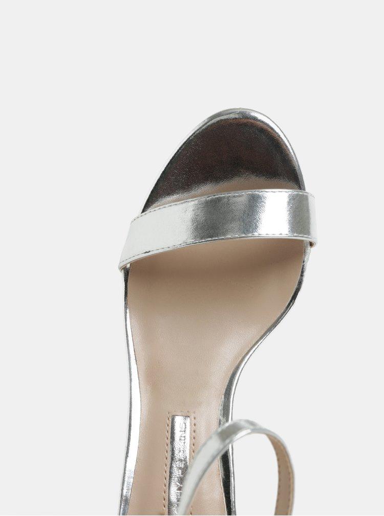 Sandale argintii cu toc cui Dorothy Perkins Sunset