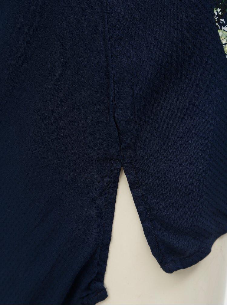 Tmavě modrá halenka s potiskem a 3/4 rukávy Desigual Temis