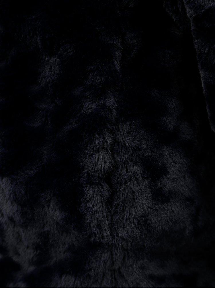 Tmavě modrý krátký kabát z umělé kožešiny Dorothy Perkins