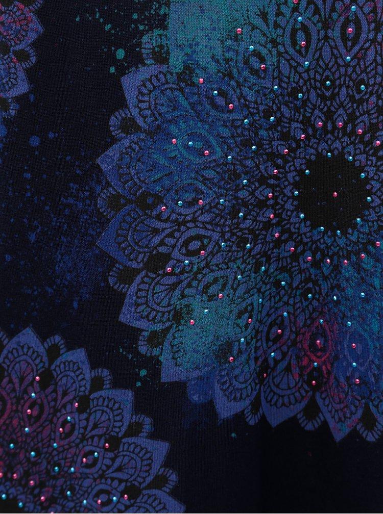Top albastru inchis cu imprimeu mandale Desigual