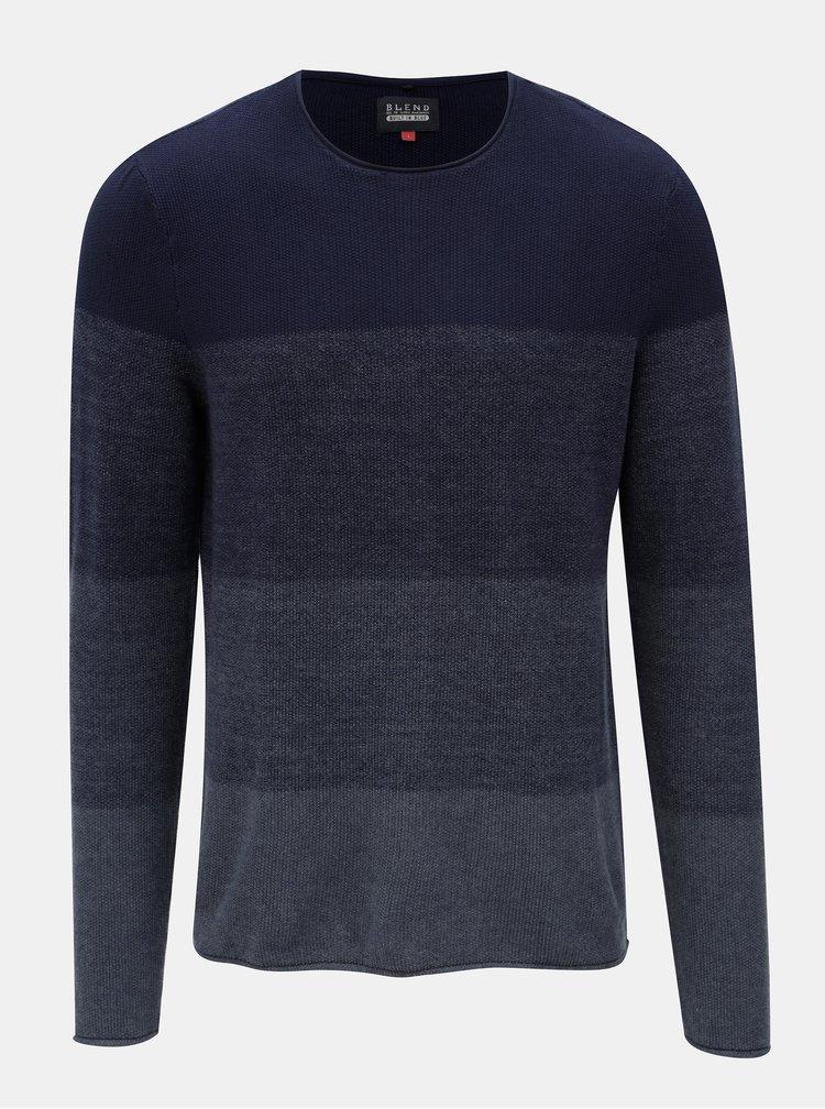 Tmavomodrý melírovaný sveter Blend