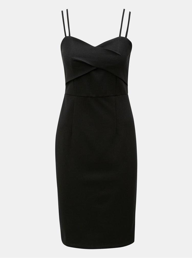 Čierne šaty na ramienka Dorothy Perkins