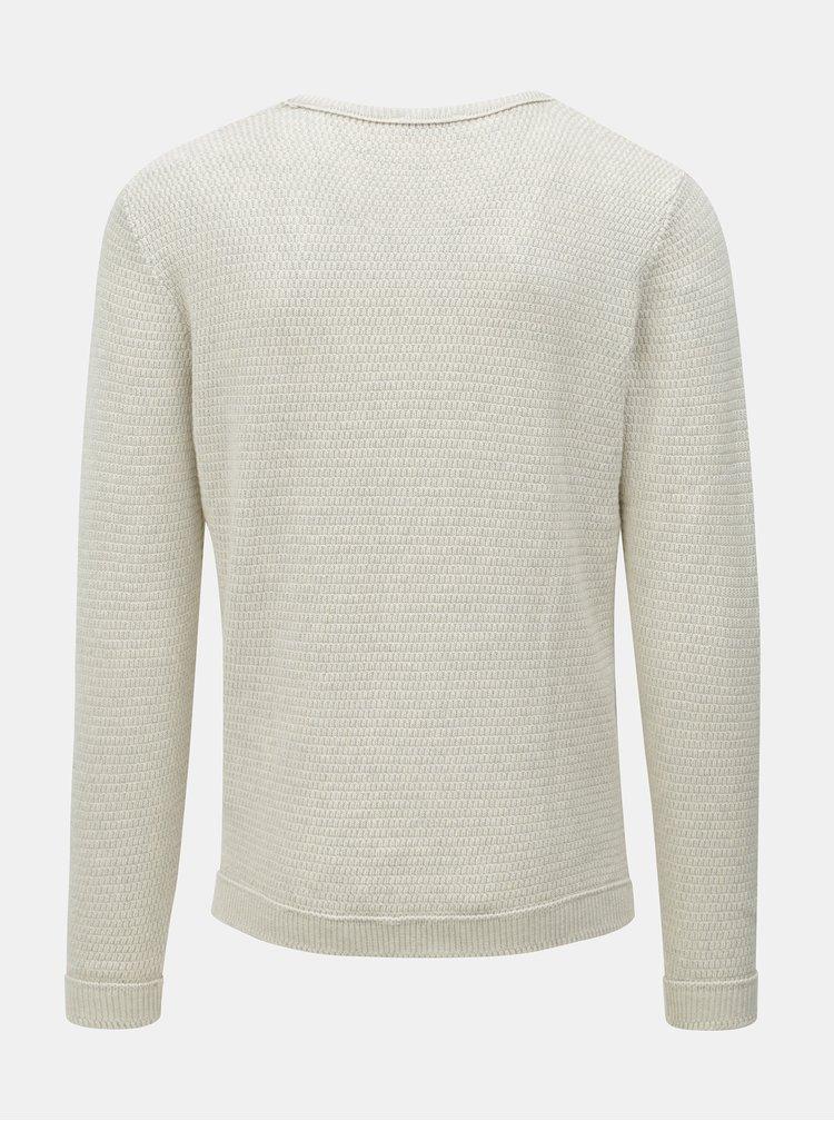 Krémový svetr s kulatým výstřihem Selected Homme Victor