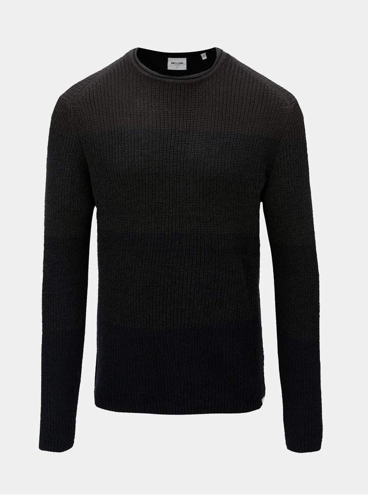 Tmavosivý sveter s okrúhlym výstrihom ONLY & SONS Sato