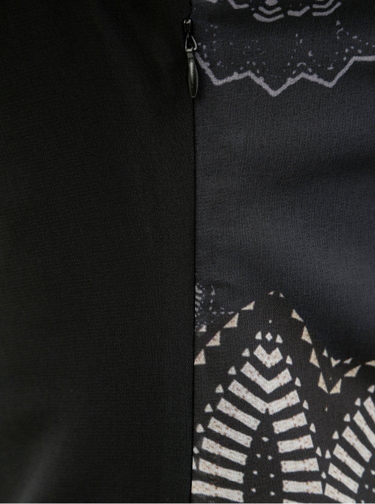 Rochie neagra cu model Desigual
