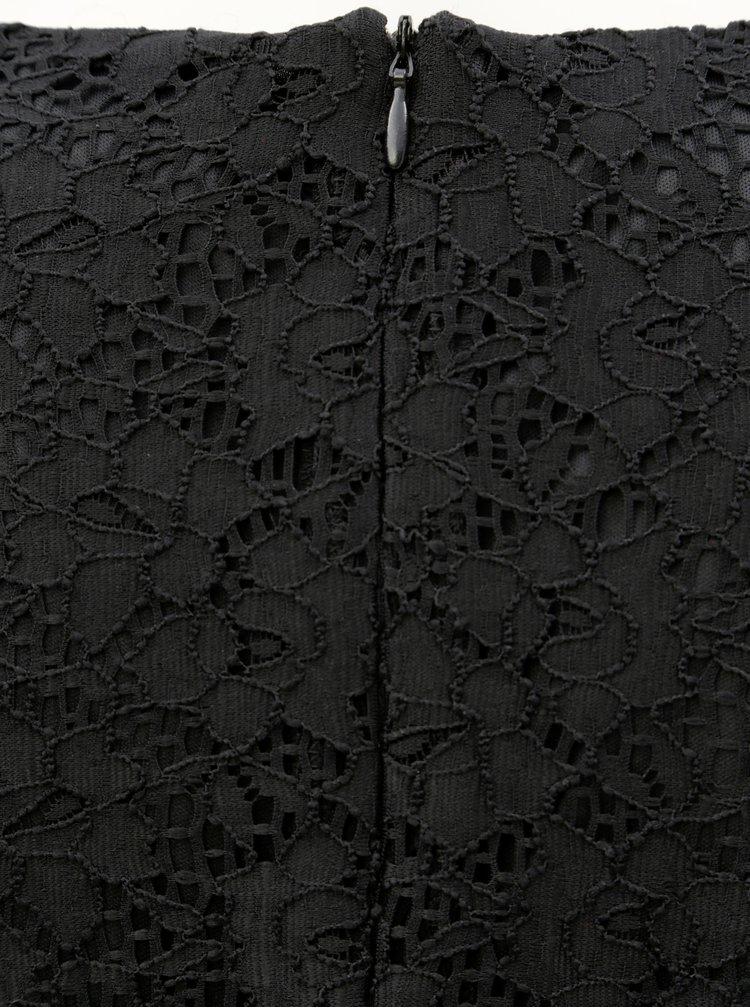 Rochie neagra din dantela cu broderie Desigual Vermond