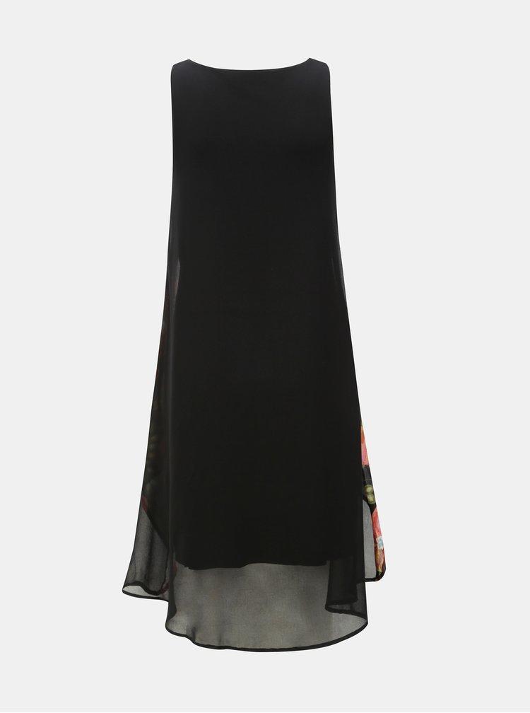 Rochie neagra cu spate mai lung Desigual