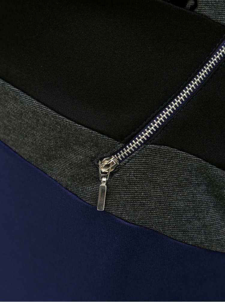 Rochie mulata negru-albastru cu fermoare Desigual