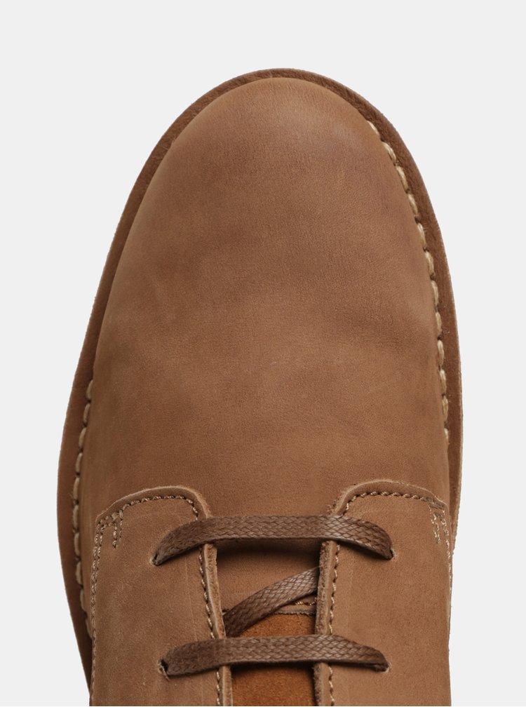 Světle hnědé pánské semišové kotníkové boty Selected Homme Royce