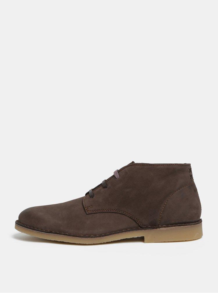 Hnědé pánské semišové kotníkové boty Selected Homme Royce