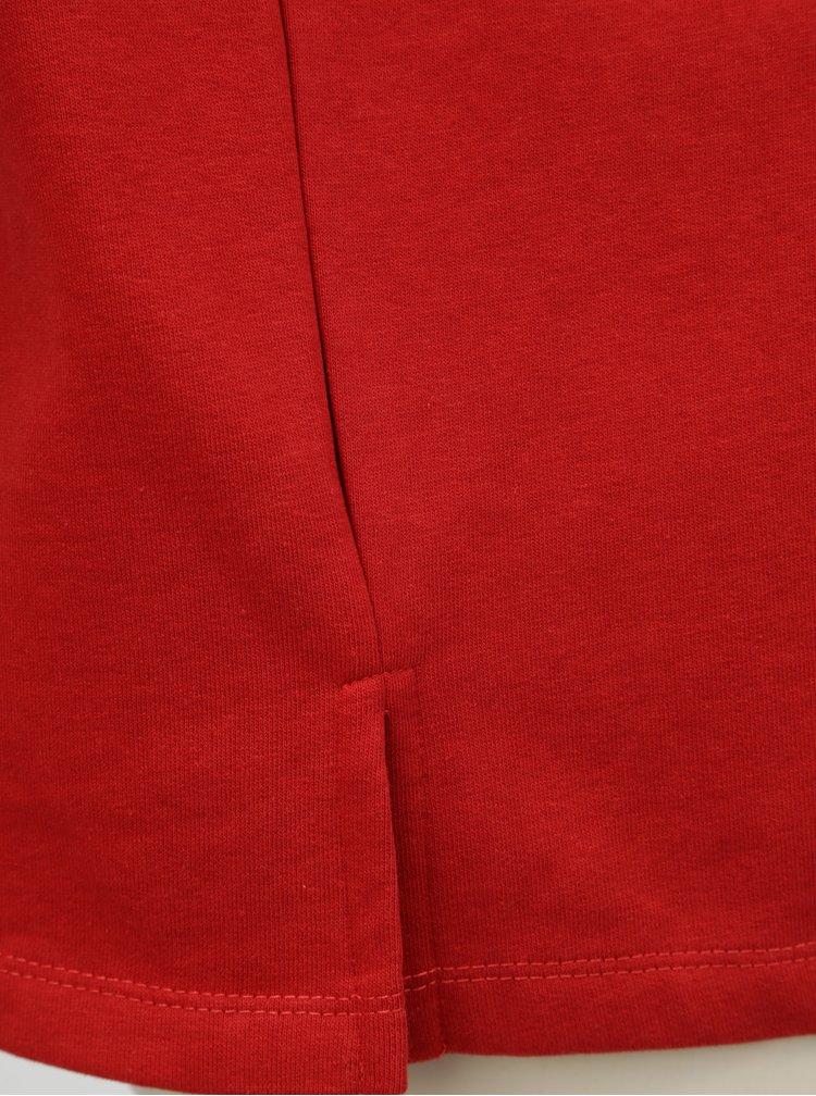 Červená mikina s výšivkou Blendshe Jastine