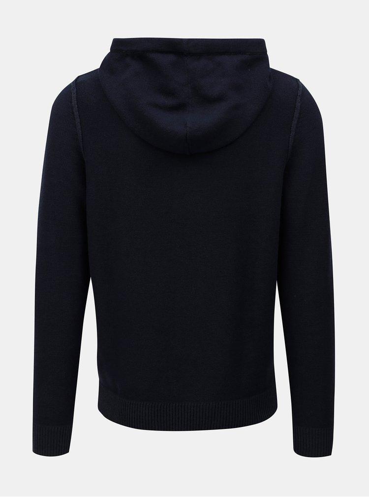 Tmavě modrý svetr s kapucí Jack & Jones  Duberry