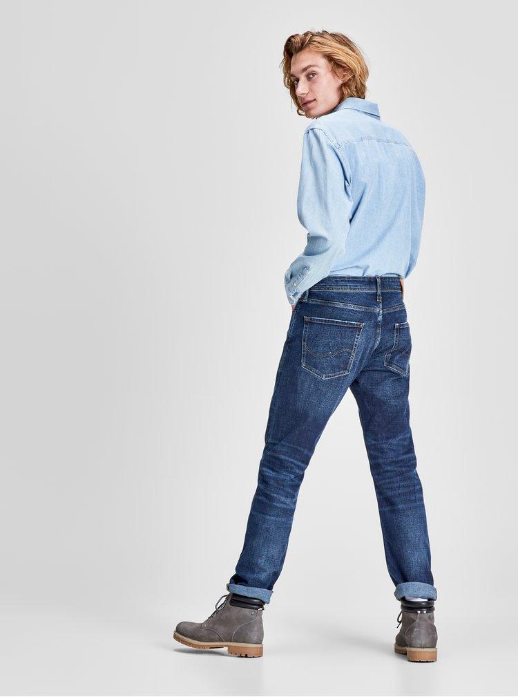 Modré žíhané džíny s vyšisovaným efektem Jack & Jones Original
