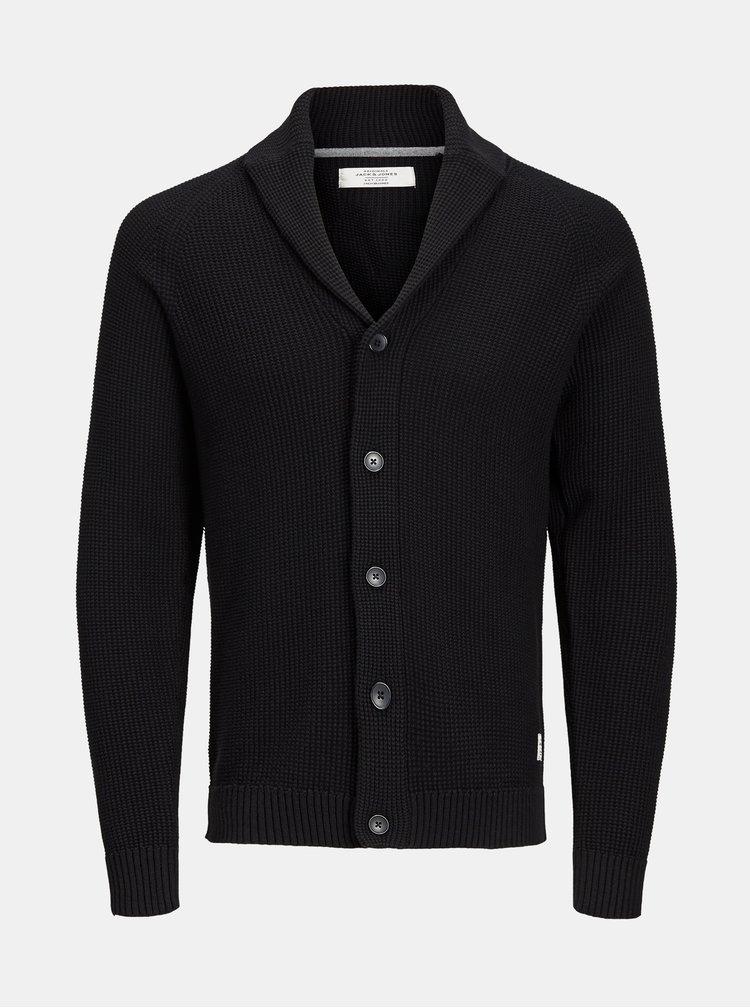 Cardigan negru Jack & Jones Knit