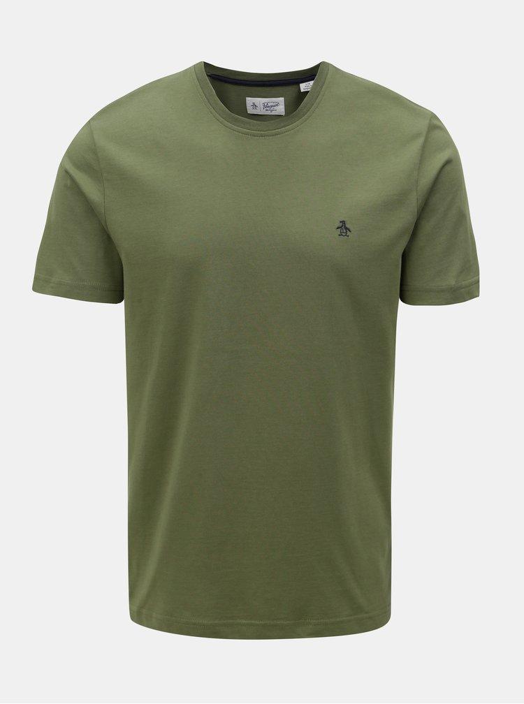 Khaki tričko s krátkým rukávem Original Penguin Pin point