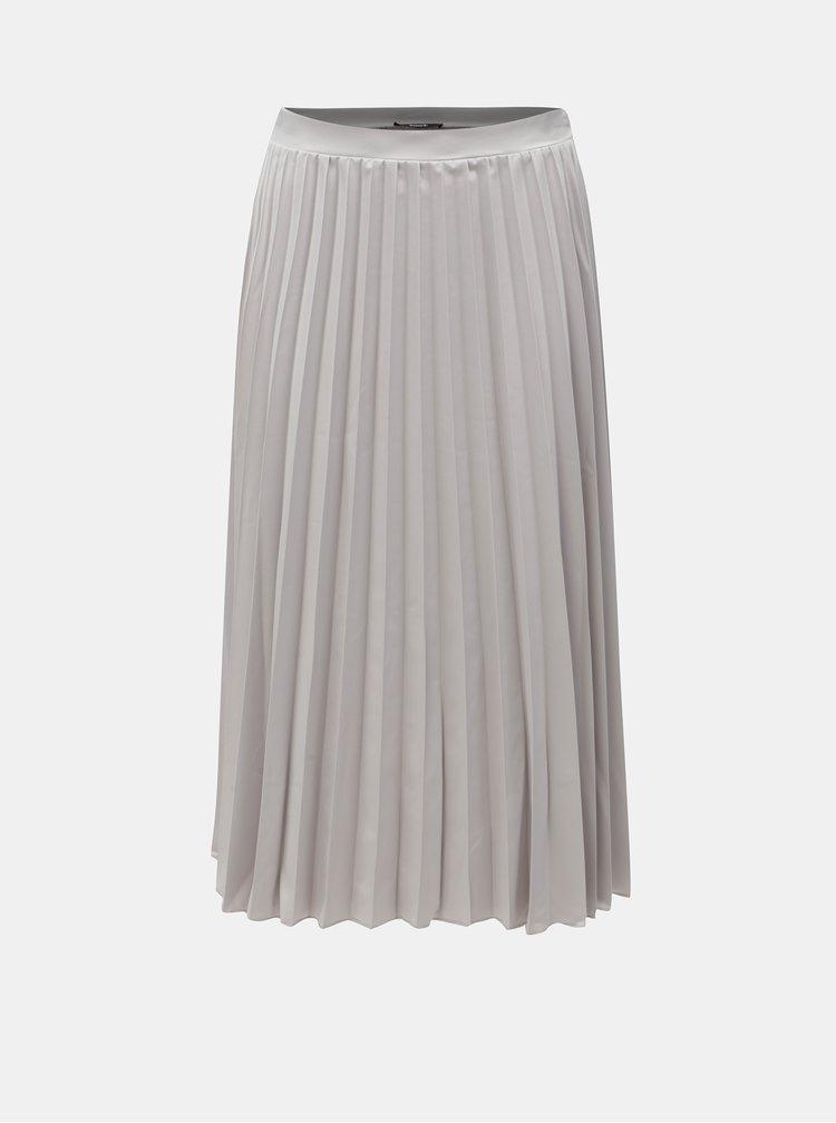 Světle šedá plisovaná sukně ZOOT