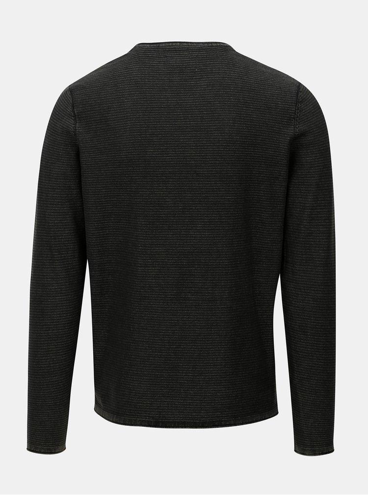 Černý lehký svetr Jack & Jones Laundry