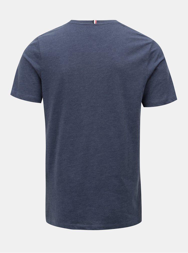 Modré tričko s potiskem Jack & Jones Izzle Tee