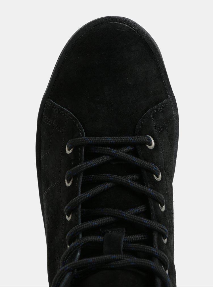 Černé dámské semišové kotníkové tenisky Pepe Jeans Brixton