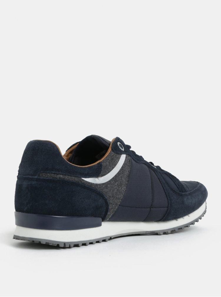 Tmavě modré pánské semišové tenisky Pepe Jeans Tinker