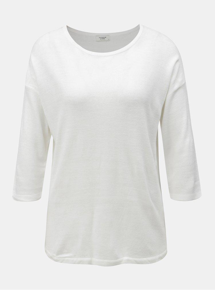 Bílý lehký svetr s 3/4 rukávem Jacqueline de Yong Hush