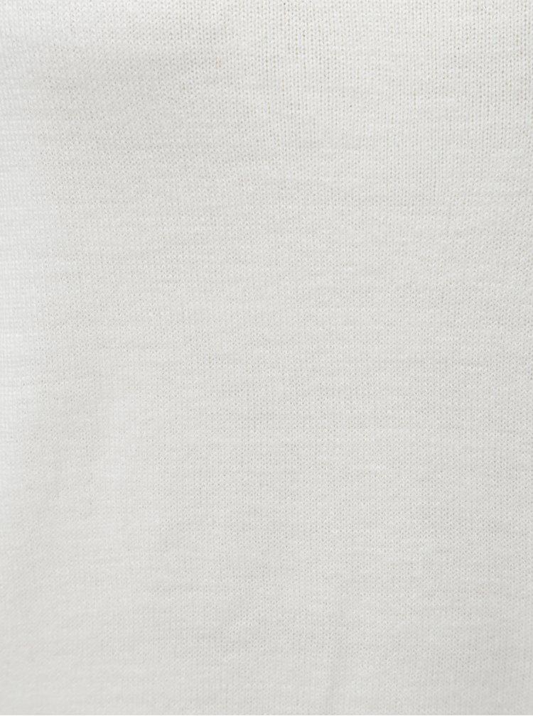 Biely tenký sveter s 3/4 rukávom Jacqueline de Yong Hush