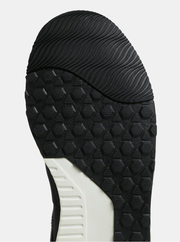 Černé dámské kotníkové tenisky s gumou a potiskem v přední části Pepe Jeans Koko