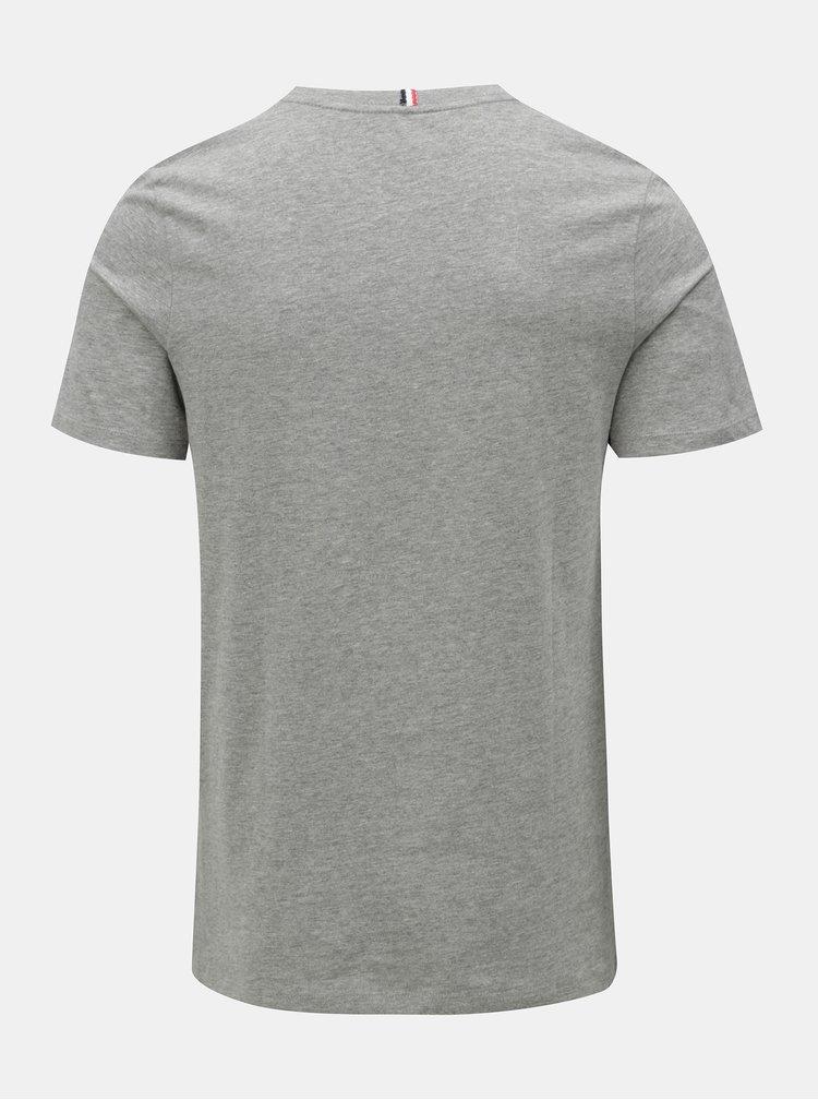 Šedé žíhané tričko s potiskem Jack & Jones Izzle Tee