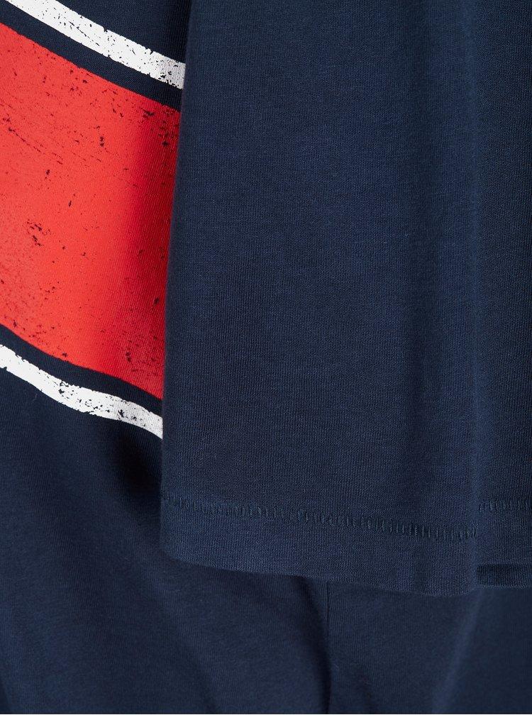 Tmavě modré tričko s potiskem Jack & Jones Down Tee