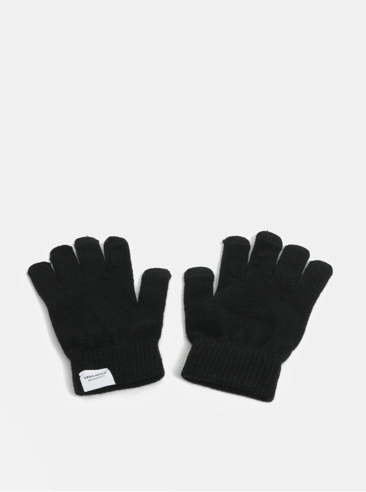 Sada dvou párů rukavic v  tmavě šedé a černé barvě VERO MODA Vilde