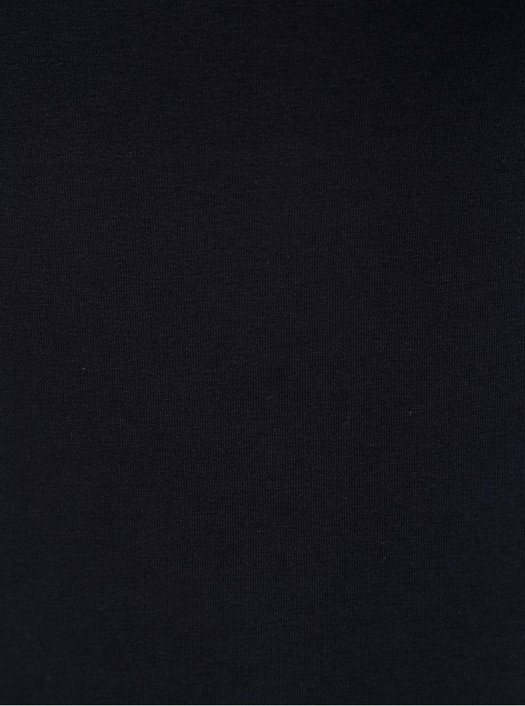 Tmavě modré basic tílko s prodlouženou délkou Yest
