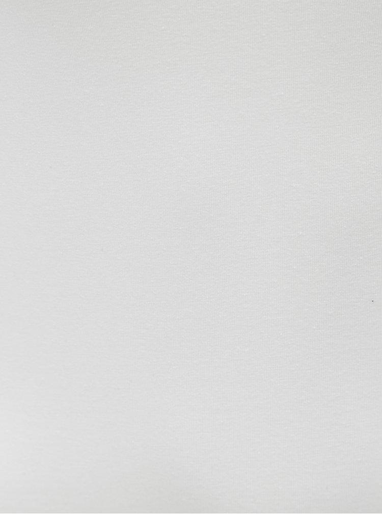Bílé basic tílko s prodlouženou délkou Yest