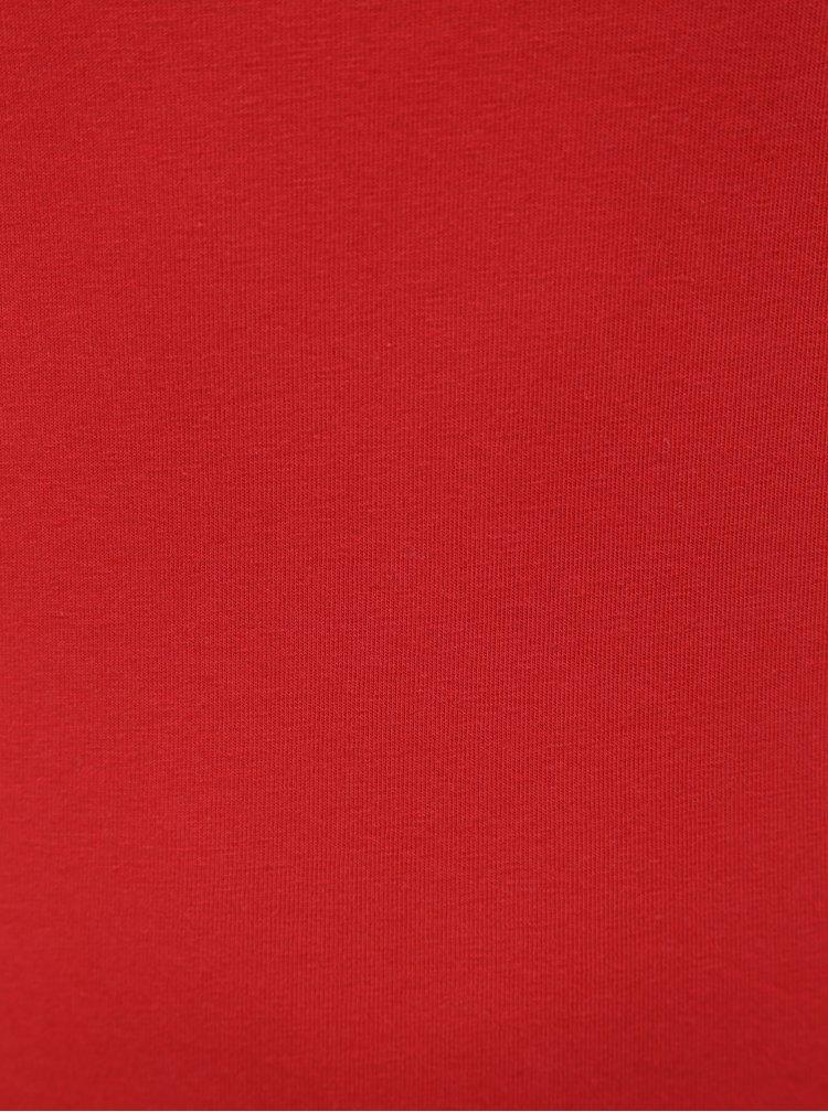 Červené basic tielko s predĺženou dĺžkou Yest