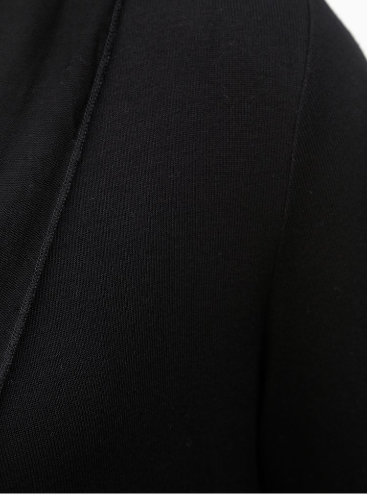Černý kardigan s dvojitým lemem Yest