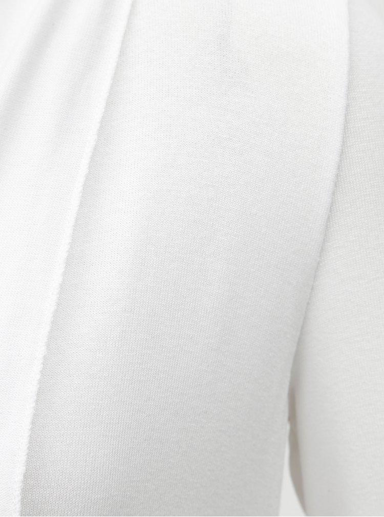 Bílý kardigan s dvojitým lemem Yest
