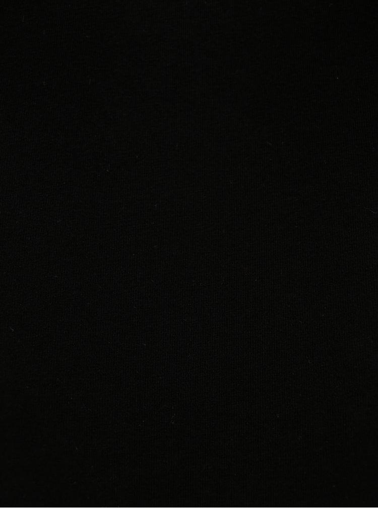 Černé basic tričko s 3/4 rukávem Yest
