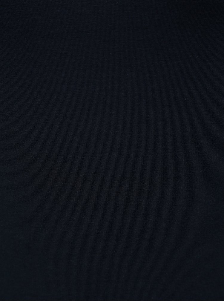 Tricou albastru inchis basic cu maneci lungi Yest
