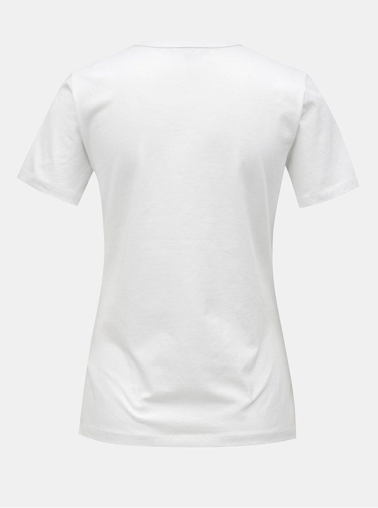 Tricou alb basic cu maneci scurte Yest