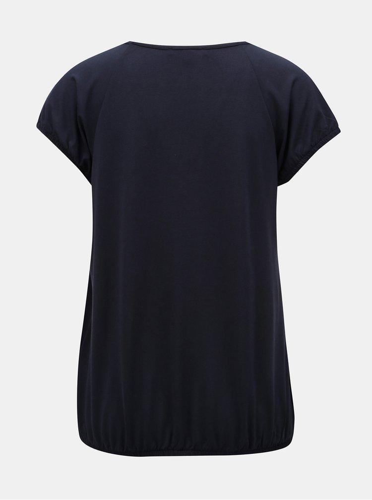 Tricou albastru inchis cu maneci scurte Yest