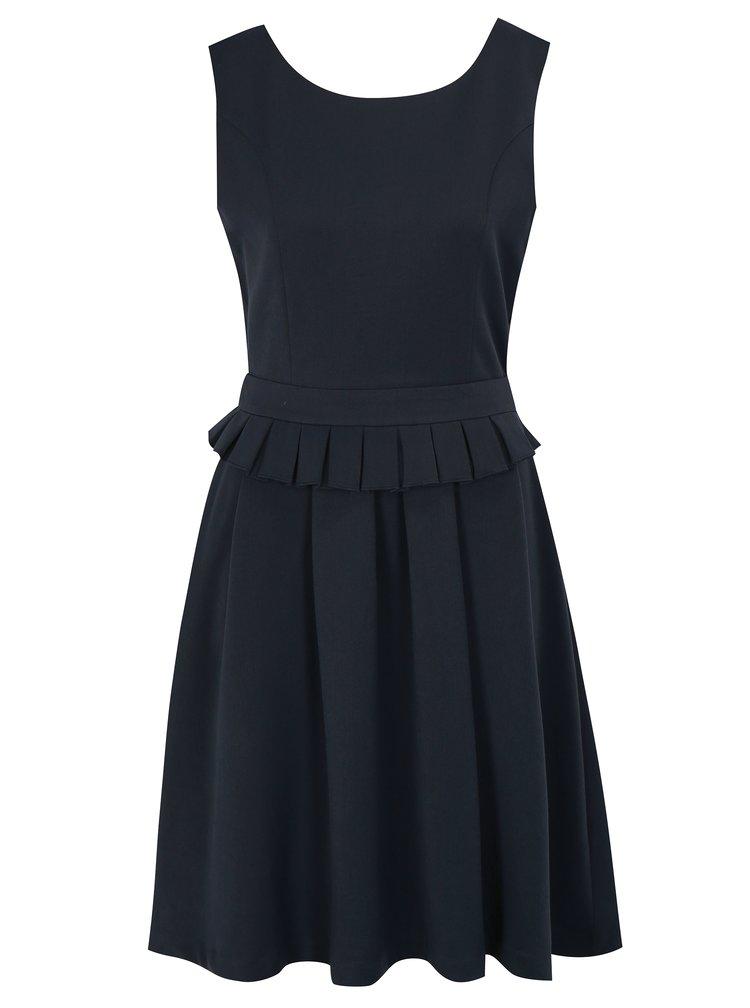 Tmavě modré šaty s páskem Fever London Adriana