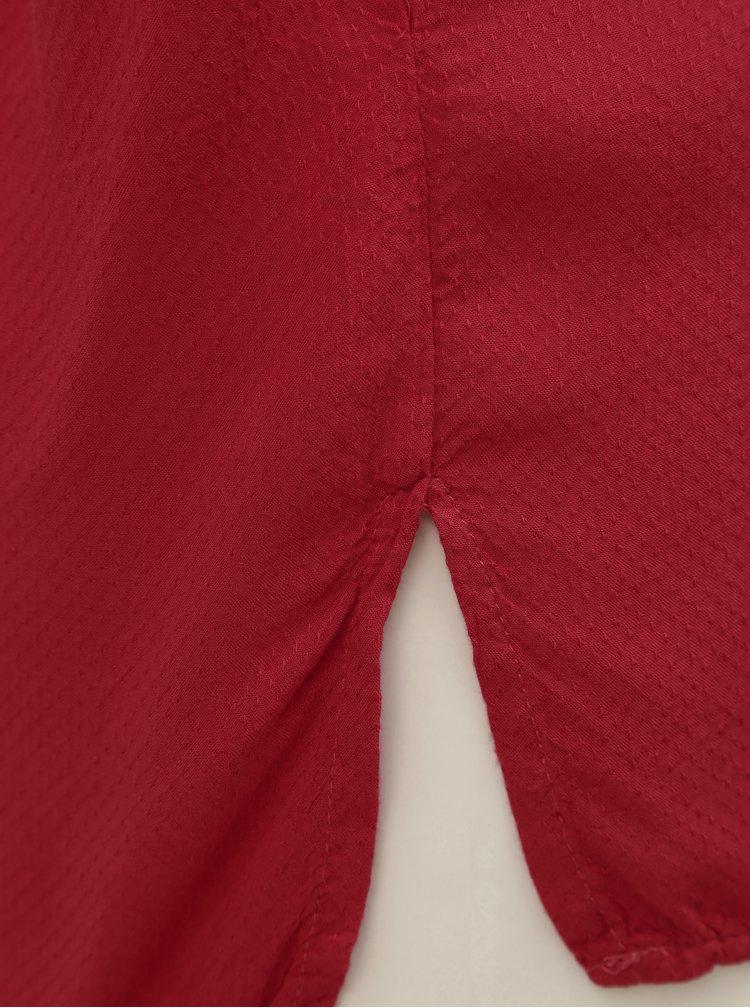 Červená blúzka s potlačou a 3/4 rukávmi Desigual Temis
