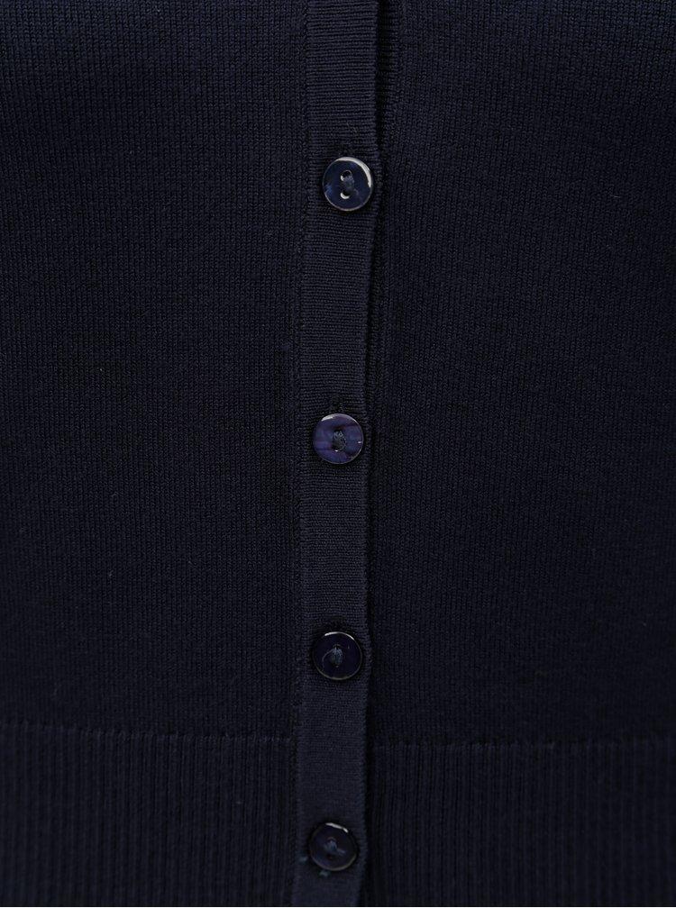 Tmavě modrý kardigan se zapínáním na knoflíky Yest